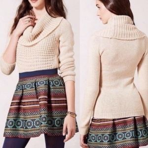 Angel Of The North Cowl Neck Waffle Knit Sweater